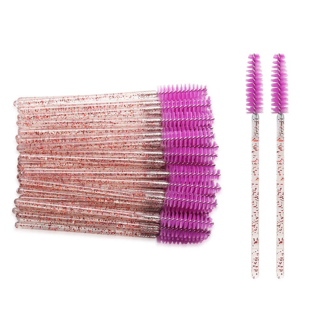 500pcs Disposable Crystal Eyelash Brush Mascara Wands Stick Applicator Grafting Eyelash Curling Comb