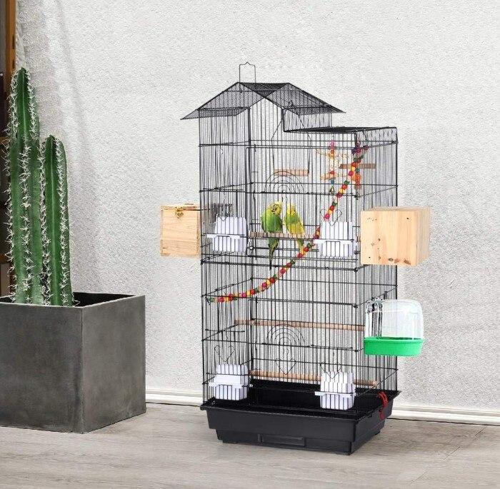 New Metal Large Pet Bird Cage Indoor Outdoor Breeding Multifunction Parrots Macaw Cockatiel Bird Nes