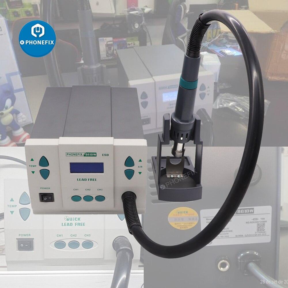 Original Quick 861DW Hot Air Heat Gun Rework Station 110v 220v Phone PCB BGA Soldering Station Motherboard Welding Repair Tool