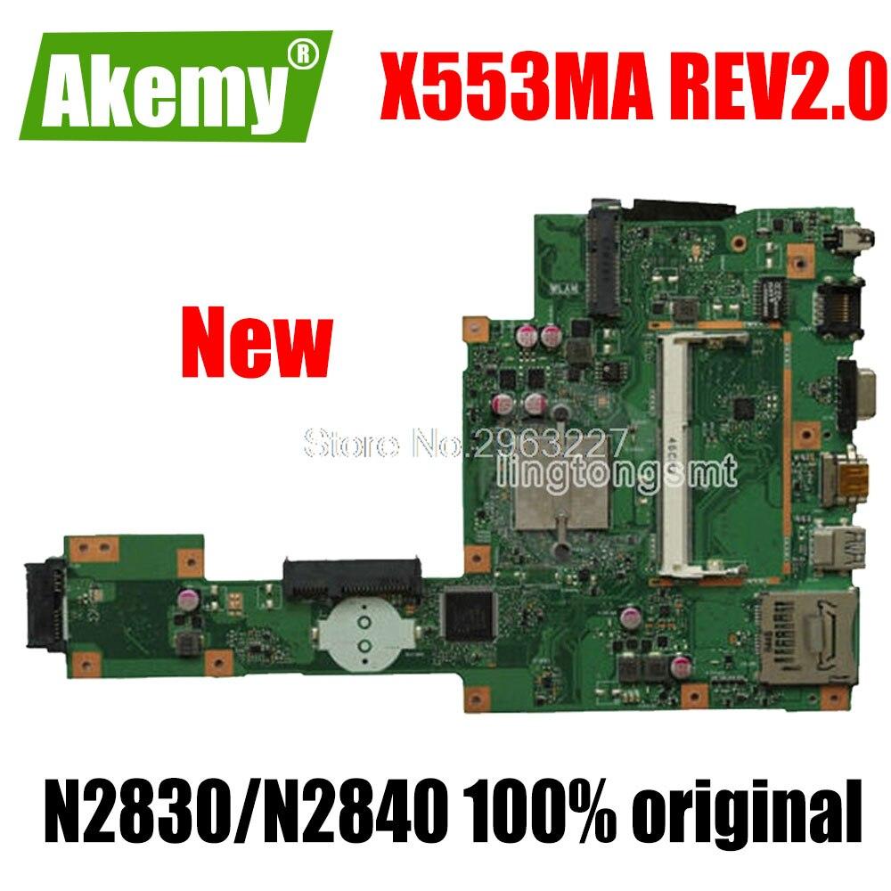 جديد X553MA اللوحة X553ma REV2.0 N2830 N2840 ل Asus D553M F553M اللوحة المحمول X553MA اللوحة X553MA morherborad