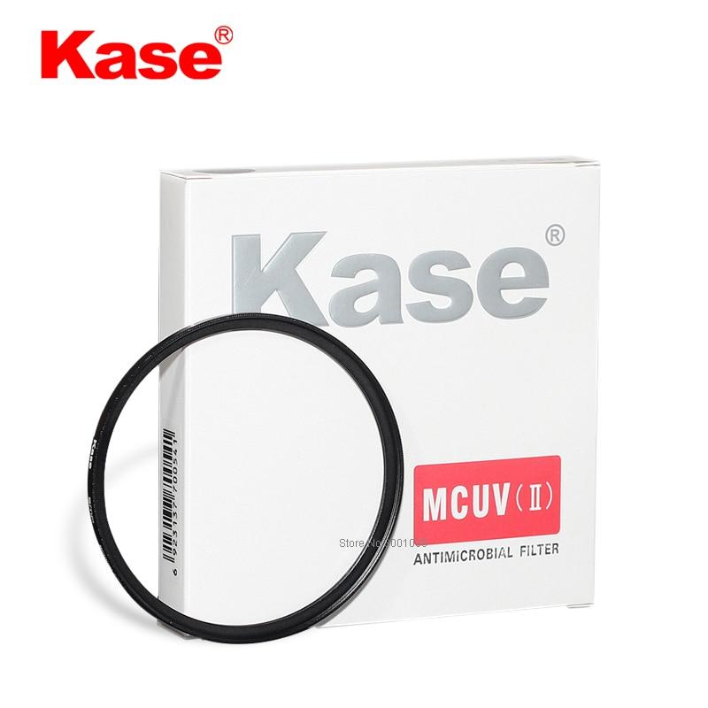 Kase mcuv ii hd b270 filtro anti-oídio revestido multicamadas de vidro óptico para lente da câmera (40.5mm-82mm)