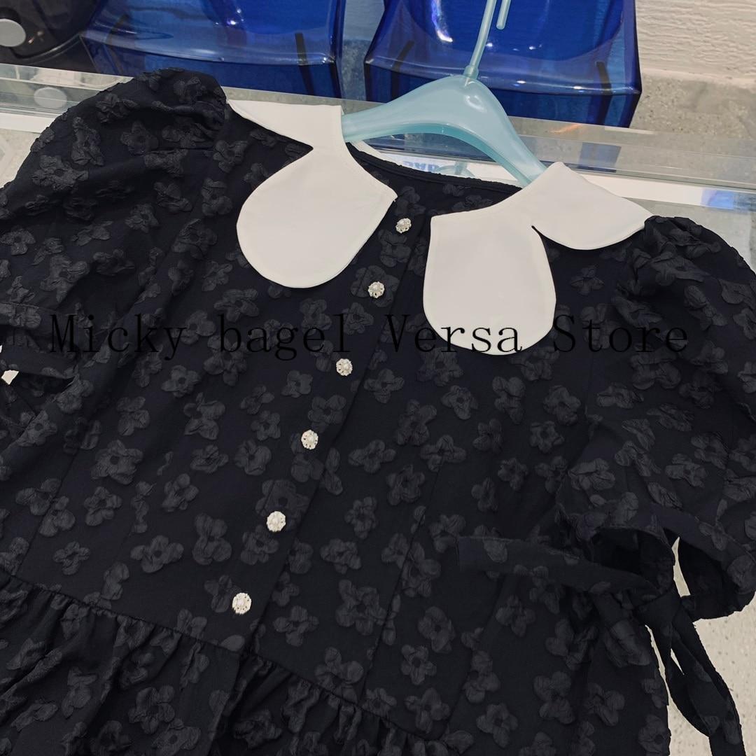 2021 luxury design high quality 3D printing fashion women's top temperament slim doll collar short sleeve slim versatile T-shirt enlarge