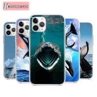 thriller whale sharks for apple iphone 12pro max mini 11pro xs max x xr 6s 6 7 8 plus 5s se2020 transparent phone case