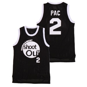BG Basketball jerseys TOURNAMENT SHOOT OUT 2 pac  jersey Embroidery sewing Outdoor sportswear Black grey movie style