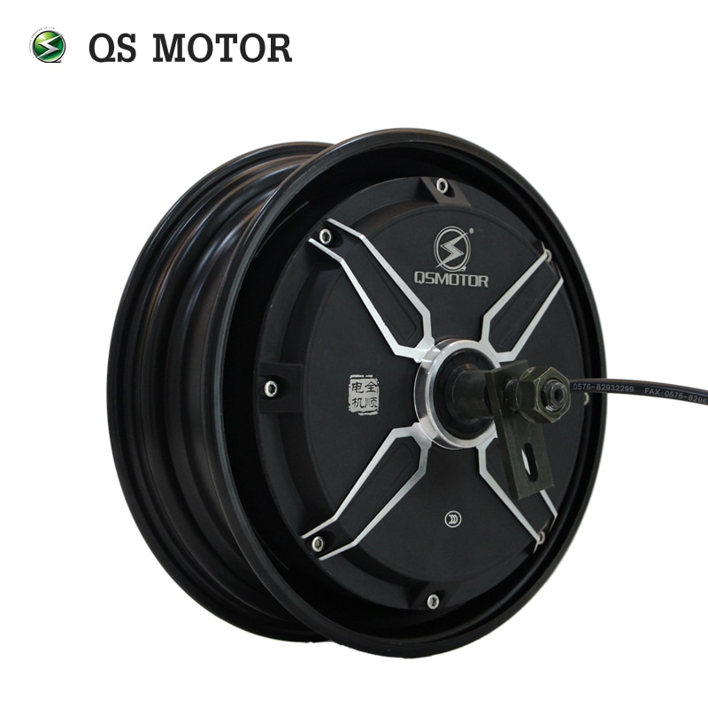 QS Motor 10*2.15inch 3000W 205 V3 70Kph Low Power BLDC Motor Brushless and Gearless in Wheel Hub Motor for Electric Scooter enlarge