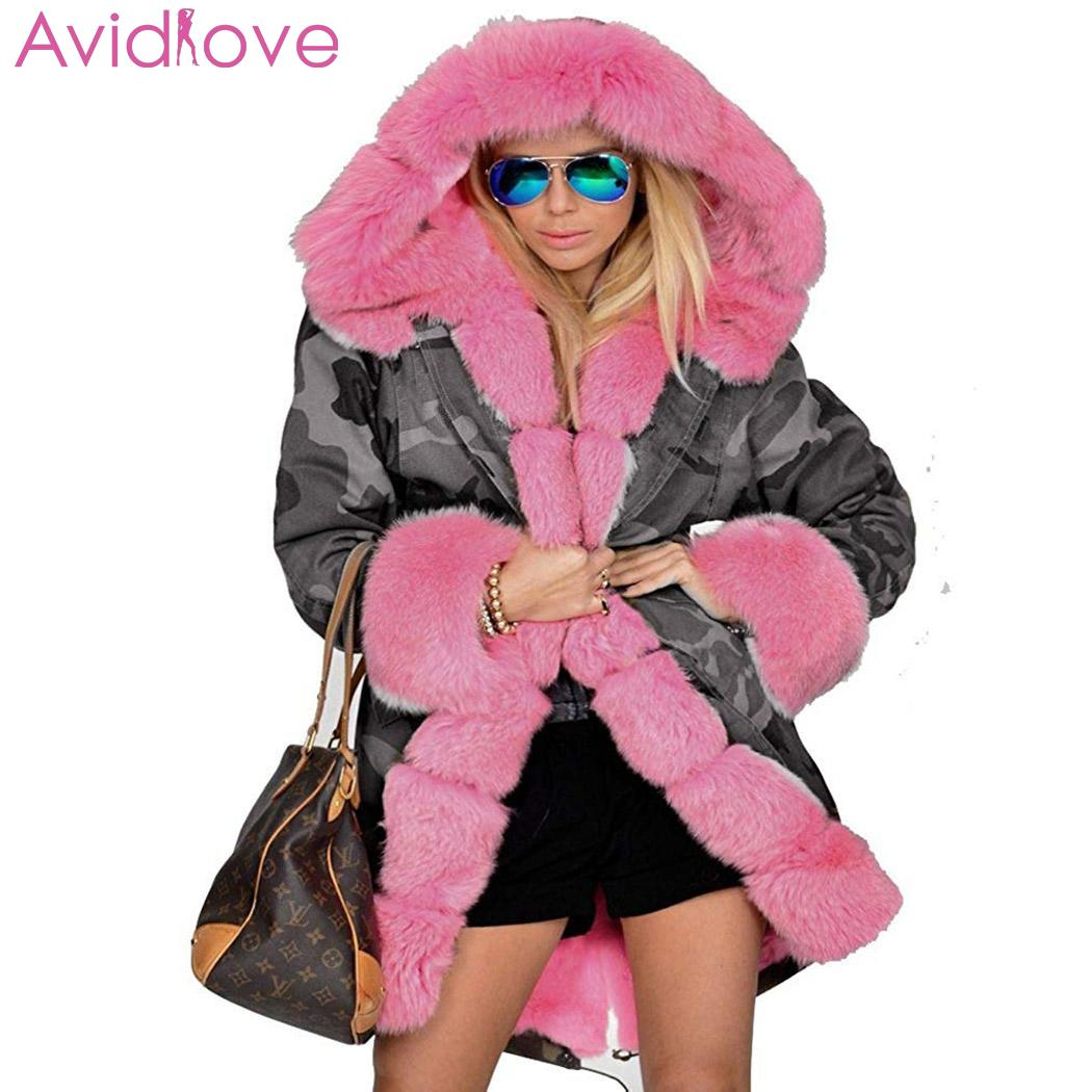 Abrigo Casual con capucha gruesa, nuevo de moda para mujer, abrigo de invierno de camuflaje cálido, Regular Fit, prendas de vestir con bolsillo