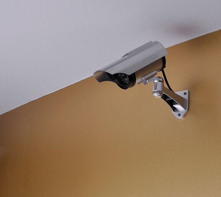 Cámara de vigilancia para exteriores Cámara Solar simulación cámaras de vigilancia con paneles Unisex plástico modelo electrónico disfraz