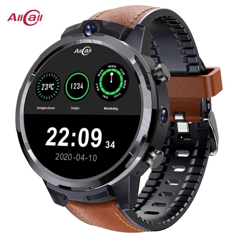 ALLCALL Awatch GT2 ساعة ذكية للرجال 1.6 بوصة تعمل باللمس الكامل HD كاميرا مزدوجة لتحديد المواقع LTE 4G واي فاي هاتف الساعة الذكي 3GB 32GB الساعات