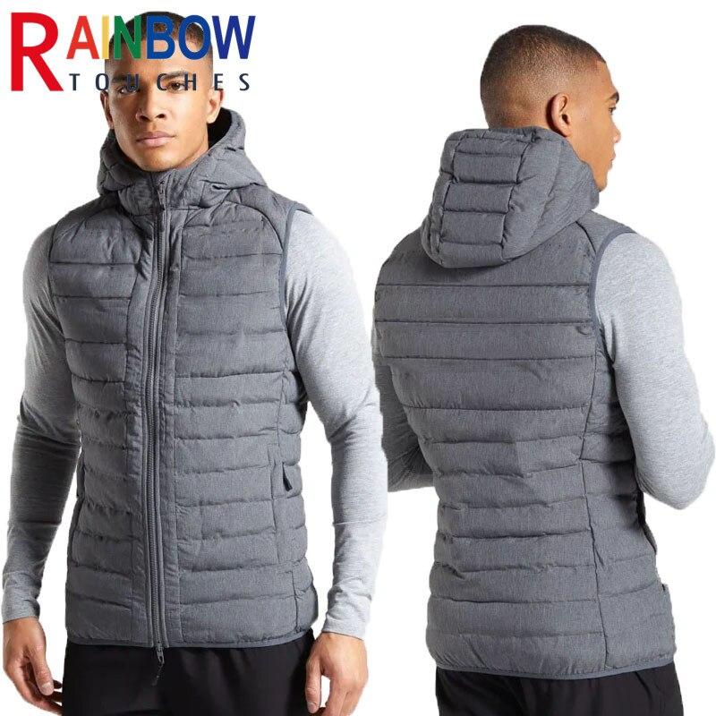 Rainbowtouches Спорт Фитнес Мужская куртка с хлопковой подкладкой и капюшоном, жилетки по фигуре, раздел-верхняя Цвет Утепленные зимние пальто без...