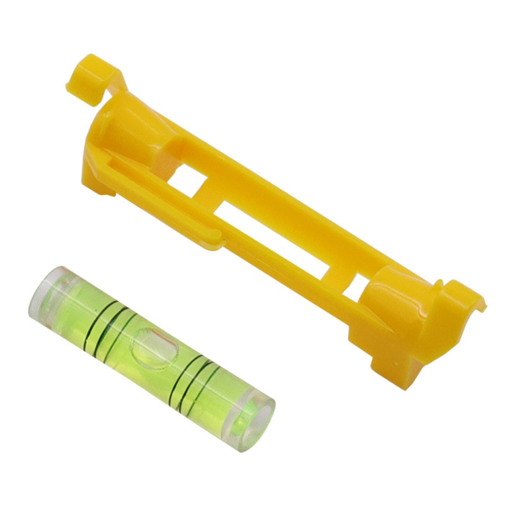 Mini Hanging Rope Set Measuring And Analysis Instruments 10Pcs 75mm Acrylic Material 10 Pieces Yellow 10pcs Pocket Line Leveler