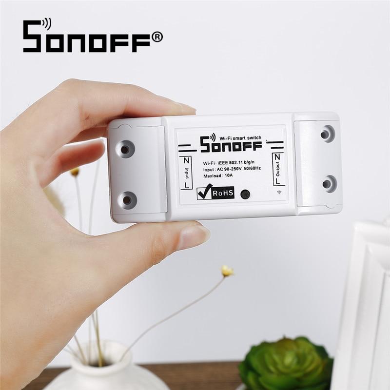 Sonoff interruptor inteligente wifi, interruptor sem fio para automação de casa inteligente 10a/2200w módulos módulos