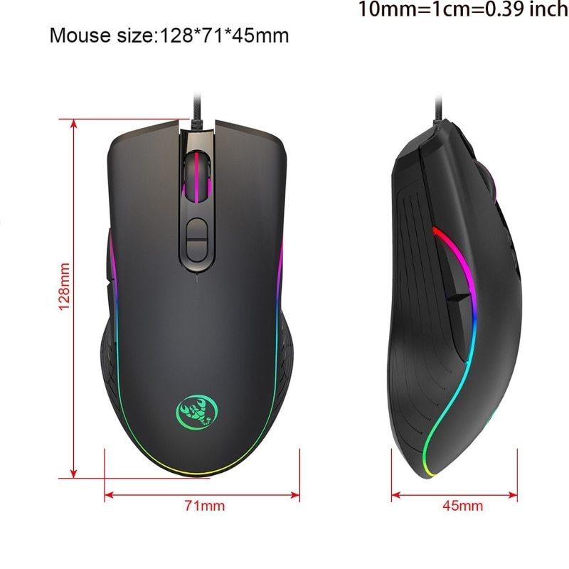 Rainbow Color Gaming Mechanical Keyboard and Mouse Set Multi-color Changing Mice enlarge
