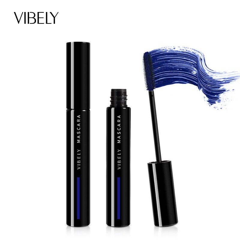 Rímel de cor impermeável secagem rápida longa duração ondulação alongamento maquiagem azul verde vermelho cor rímel tslm2      -