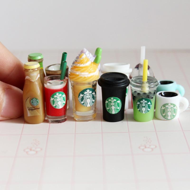 10 шт. 1/12 миниатюрный кукольный домик кофейная чашка модель мороженое напитки мини ролевые игры Кукла еда игрушка аксессуары