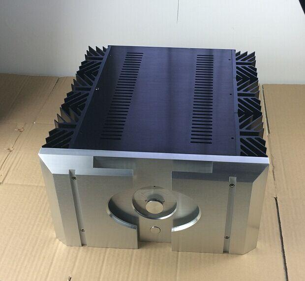 Taille (mm)  W360 H195 L396 Mini PASS160.5 tout boîtier amplificateur en aluminium Alass A 40W boîtier amplificateur, boîtier arrière pur
