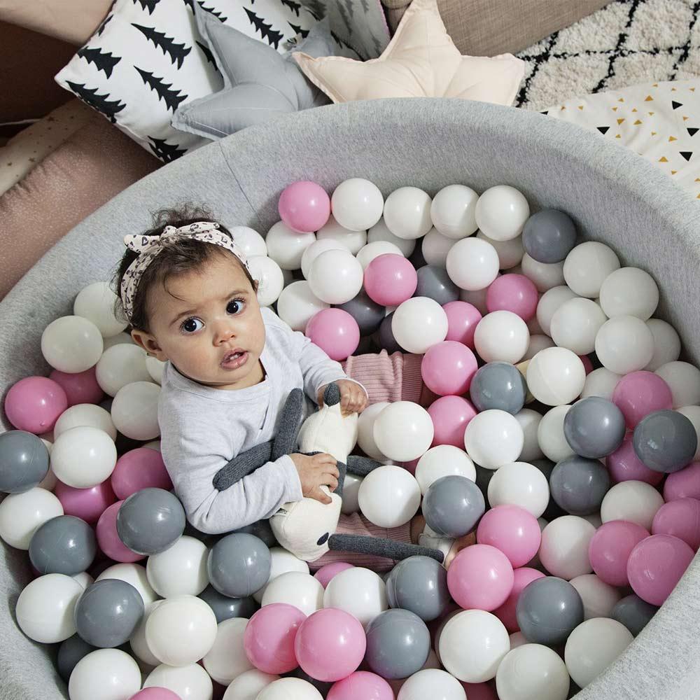 Lote de 100 unidades de bolas de plástico blando, juguetes de mina para niños, bola ecológica, piscina, pozo de bolas de ola de mar, bolas de colores, diámetro de 5,5 cm/7cm