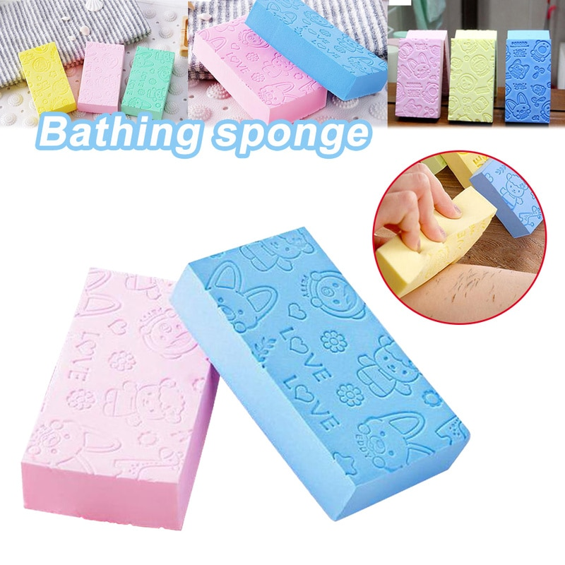 1 Pcs Bath Sponge Lace Printed Scrub Shower PVA Bath Absorb Water Scrubber Exfoliating Beauty Skin C