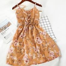 Bandage Dress Women Sexy Print Floral 2020 Summer Mini Dresses Korean Sleeveless Vestidos High Waist Ins Hot