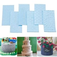 cake mold silicone mold tree bark brick wall texture mold silicone mat fondant cake decor bakeware kitchen accessories