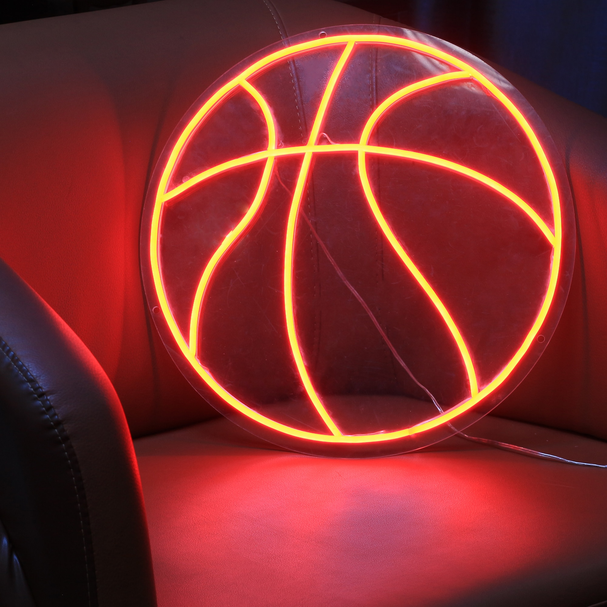 مخصص مقاوم للماء فليكس النيون تسجيل كرة السلة شكل Led ضوء النيون تسجيل هدية عيد ميلاد لصديقها والأولاد