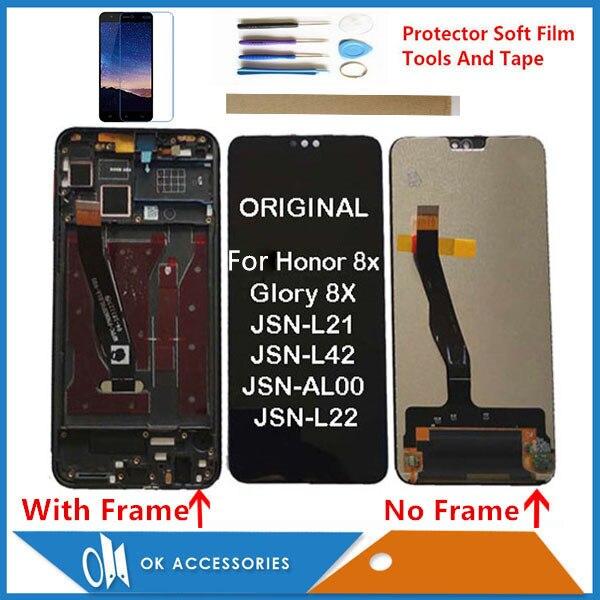 الأصلي لهواوي الشرف 8X المجد 8X JSN-L21 JSN-L22 JSN-L23 JSN-L42 JSN-LX1 JSN-LX2 JSN-LX3 LCD عرض تعمل باللمس مع أطقم