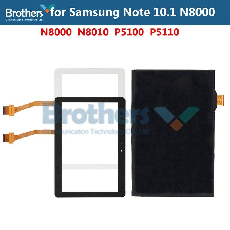 Panel táctil de vidrio para Samsung Galaxy Note 10,1 N8000 N8010 digitalizador de pantalla táctil P5100 LCD pantalla ensamblaje Tablet LCD AAA prueba