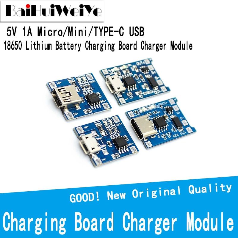 Фото - 5pcs/LOT 5V 1A Micro Mini TYPE-C USB 18650 Lithium Battery Charging Board Charger Module+Protection Dual Functions TP4056 Module 10pcs 5v 1a type c usb 18650 lithium battery charging board charger module protection dual functions tp4056 module charging