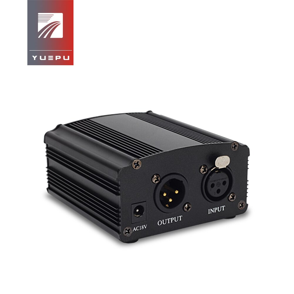 Yuepu RU-P48V 48 v fantasma fonte de alimentação para condensador microfone xrl soquete