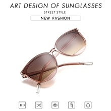 2021 New Arrival Fashion Sunglasses Women Vintage Metal Mirror Classic Vintage Women's Glasses Femal
