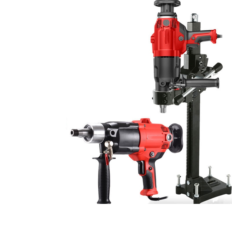 220V Electric Diamond Water Drill Machine 1600r/min Engineering Torque Drilling Machine Mini Hand Drill Power Tool