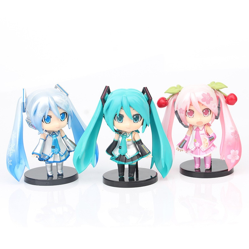 2021-hatsune-modello-giapponese-anime-figure-dolls-blu-verde-rosa-ornamenti-10cm-giocattoli-q-posket-anime-accessori-auto-regali