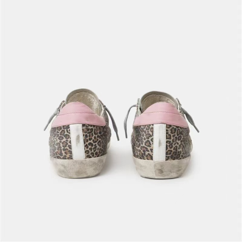 Autumn Product Parent-child Shoes Leopard Print Cow Hair Retro Distressed Small Dirty  Low-top Casual Family Matching Shoes QZ35 enlarge