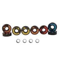 dark wolf set of abec 11 skateboard bearing 8pcs with 4pcs spacer fit skateboarding double rocker mini cruiser