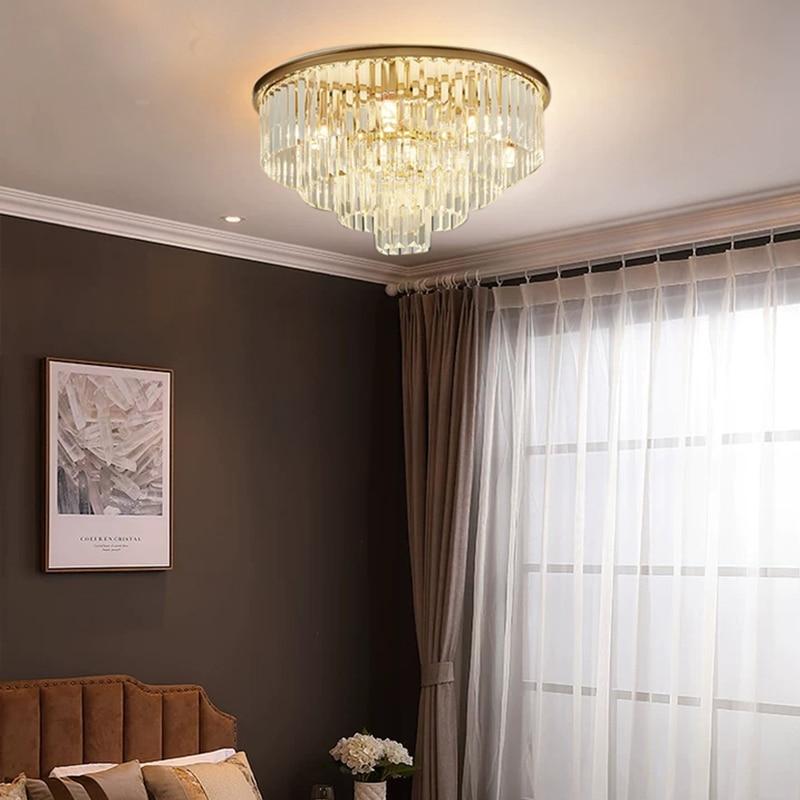 Lámparas Redondas LED moderna Lustres diseño redondo dormitorio salón Lobby del Hotel...
