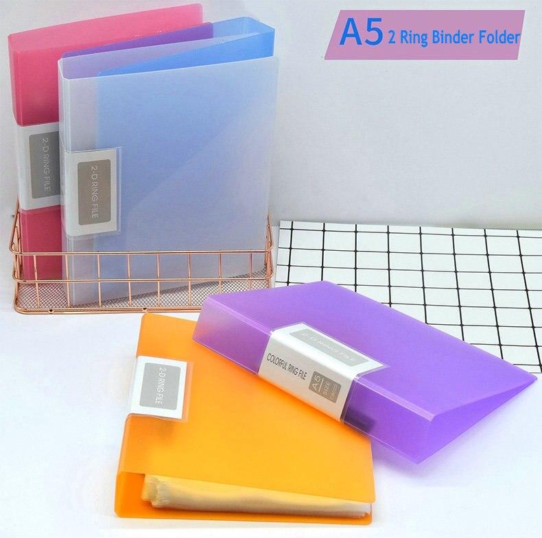 Папка для документов с 2 кольцами A5, органайзер для документов A5, бумажные обложки для документов