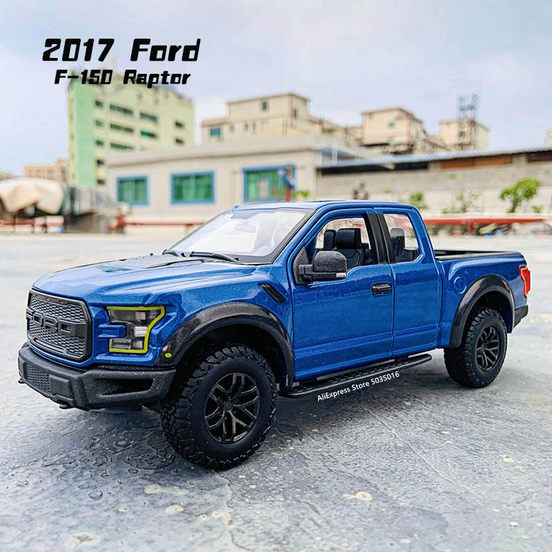 1 32 mini alloy pickup truck ford raptor f150 pick up alloy model toy car for sound and light and sliding car Maisto 1:24 20107 Ford Raptor F150 pickup simulation alloy car model crafts decoration collection toy tools gift