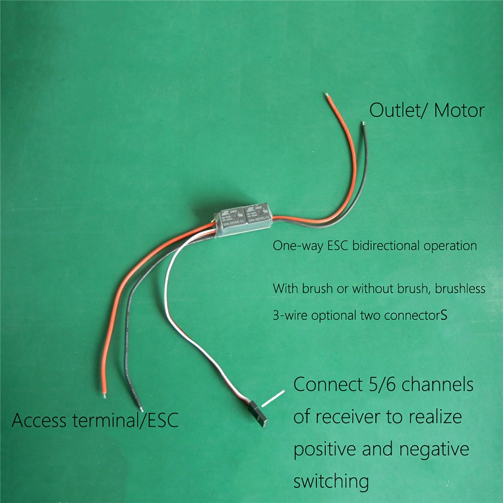 Conmutador de línea de intercambiador de cables de dos hilos para funcionamiento unidireccional ESC bidireccional para accesorios de barco y coche RC