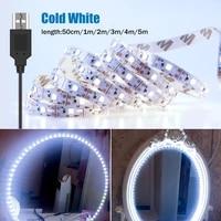 led mirror makeup light usb dressing table cosmetic lamp led 5v flexible light hollywood decor lamp 0 5 1 2 3 4 5 m wall light