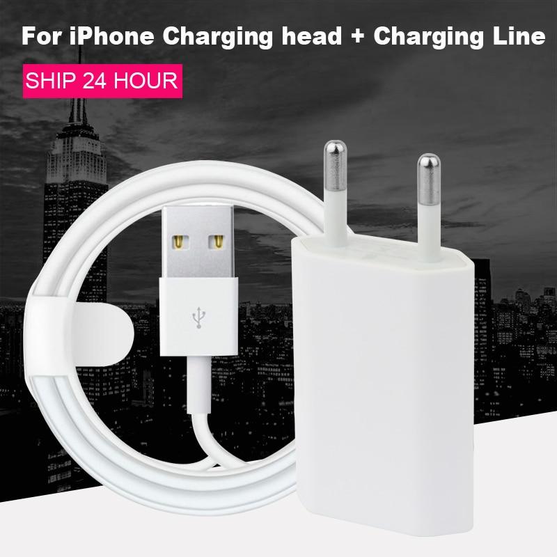 Cable y enchufe USB de datos 1M 2M Original al por mayor para el Cable de carga del cargador del iPhone 5 6 7 8 Plus