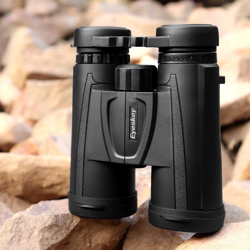 Eyeskey, prismáticos HD 10x42, telescopio de alta potencia compacto profesional, Bak4 visión nocturna, para caza al aire libre