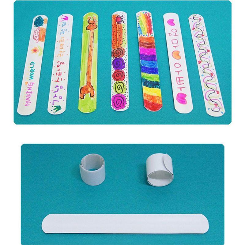 12 Uds. Pulseras envolventes para niños, novedad, pulseras ajustables, banda de anillo de 12 estilos, juguetes de fiesta, regalos de cumpleaños fiesta vacaciones