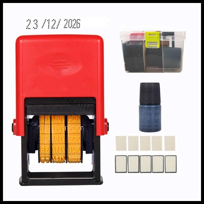 Handheld Mini Bottle Metal Can Food Plastic Bag Date Stamp Black Quick-Drying Ink Seal Stamping Date Printer Dot matrix Font