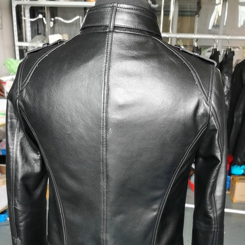 Haining leather dress women's short leather dress casual coat leather leather coat motorcycle women's leather coat women's coat enlarge