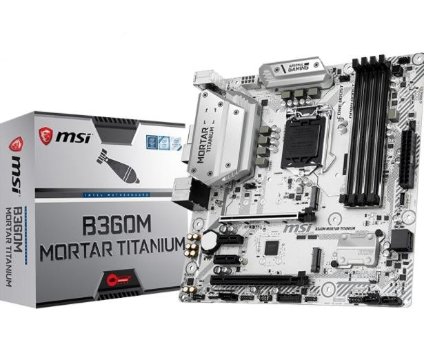 MSI B360M mortero de titanio nueva placa base 4 * SATA 6 Gb/s LGA1151 8-Channel7.1 HD Audio DDR4 2666HMz placa base de escritorio