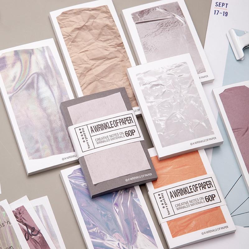 JIANWU 60 листов креативная текстура эффект морщин материал бумага простое записываемое сообщение Декор блокнот школьные офисные канцелярские принадлежности