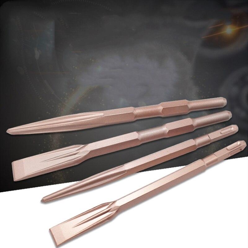 1Pc Plus Chisel Set Point Groove Gouge Flat Chisels Electric Hammer Chisel Concrete/Brick/Wall/Tile Slotting Drilling