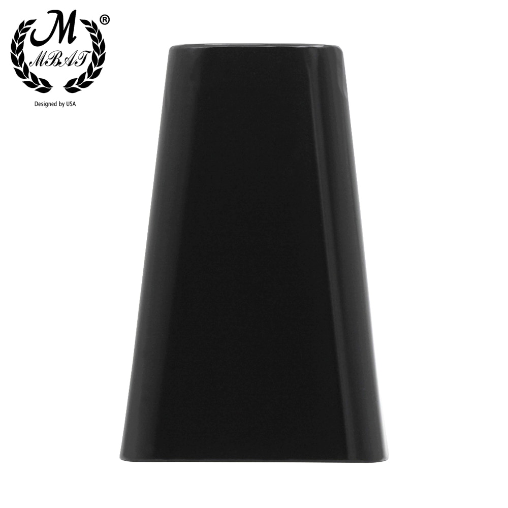 M MBAT High Quality 6 Inch Non-Porous Cow Bell Black Steel Alloy Cow Bell Drumset Accessory Percussion Instrument Accessories