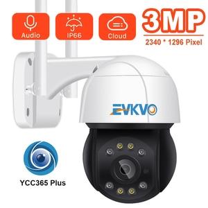 EVKVO Wifi PTZ Camera 3MP 4X Digital Zoom Human Detection PTZ IP Camera Outdoor 2MP Auto Tracking ONVIF Wireless IP Camera
