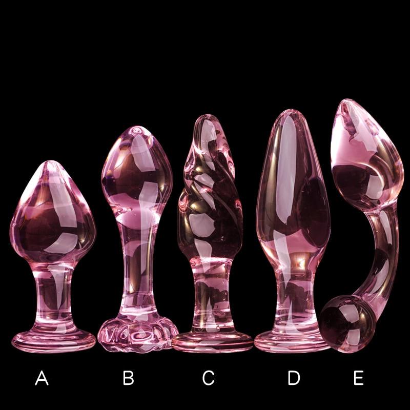 Розовый стеклянный анальный дилдо анальная пробка со стразами эротическая секс-игрушка для женщин товары для взрослых для пар анальный стеклянный анальный стимулятор