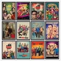 JLThe     affiches Vintage de la theorie du Big Bang pour jeune Sheldon  en papier kraft de haute qualite  decoration pour maison Bar salon  HBA46